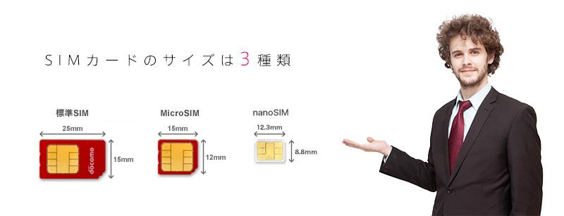 3種類のSIMカードの紹介